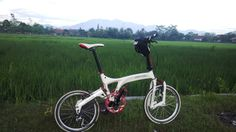 White Birdy Bike