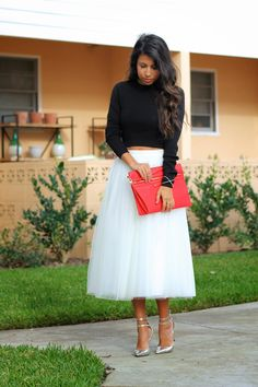 what to wear for Christmas, Holiday Style, Tulle Skirt, Ballerina Skirt Outfit Church Fashion, Holiday Fashion, Holiday Style, Bailey 44, Skirt Outfits, What To Wear, Fashion Outfits, Fashion Clothes, Midi Skirt