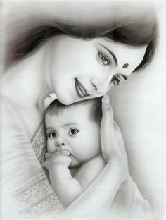 New baby art pictures kids Ideas Mother And Baby Paintings, Mother And Child Drawing, Mother Daughter Art, Mother Art, Mother Painting, Mother Pictures, Baby Pictures, Mother And Child Images, Baby Images