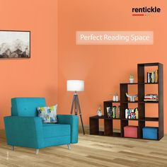 Dedicate a corner of your room to create the perfect reading space as you curl up with your favourite book and a hot cup of coffee.   Book Now   What makes up the perfect reading room space for you? . . . #cozyspaces #bookcorner #bookshelfdecor #bookinspiration #bookshelvesofinstagram #cosyvibes #bookshelf #books #reading #couchreading #rentickle #favouritebook #decor #tripodlamp #readingspace Book Corners, Reading Room, Tripod Lamp, Pune, Hyderabad, Bookshelves, Cosy, Living Room Furniture, Your Favorite
