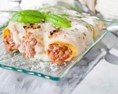 Canellonis farcis au veau, poireaux et jambon