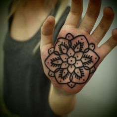Flower tattoo. Not on hand though...nope