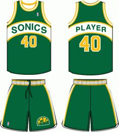 51ab5fa87e7 Seattle Supersonics Road Logo on Chris Creamer's Sports Logos Page -  SportsLogos. A virtual museum of sports logos, uniforms and historical  items.
