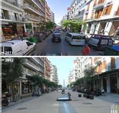 Before & After: 30 Photos that Prove the Power of Designing with Pedestrians in Mind,Agias Sofias, Thessaloniki, Greece. Imagen 2015 por Kosmas Anagnostopoulos. Image Courtesy of Urb-I