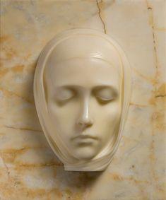 The Virgin(La Vergine), 1924 Marble Guggenheim Venice Italy Pottery Sculpture, Sculpture Clay, Stone Sculpture, Italian Sculptors, Mixed Media Sculpture, Biblical Art, Statue, Skull Art, Woman Face