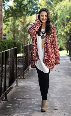 knit's just right cardigan(red)