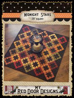 Midnight Stars PDF quilt pattern by myreddoordesigns on Etsy, $6.50