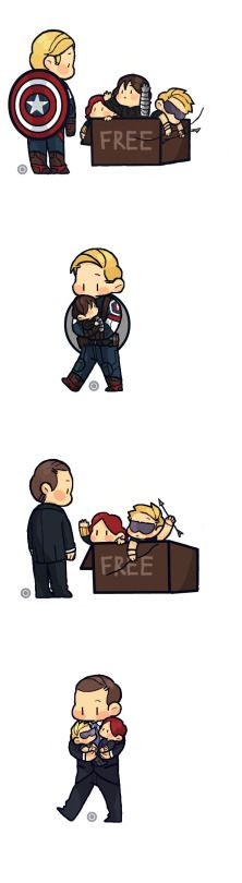"*pushes Steve outta the way.* ""I'm sorry Steve, Buckybear is miiinne."" *Grabs Bucky and runs away cuddling him*. *mischievous grin*"