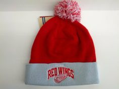 2d9c33a290e Mitchell and Ness NHL Detroit Red Wings Knit Cuffed Beanie by Mitchell    Ness.  21.95. Official Mitchell and Ness NHL Detroit Red Wings Knit Cuffed  Beanie