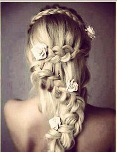 Don't usually post hair do's but I'd love to try this one someday while my hair is long  :)