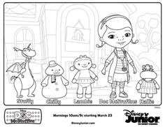 Doc McStuffins characters - Free Printable Coloring Pages at SheKnows