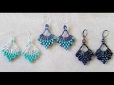 Video:  Flabellum Earrings - #Seed #Bead #Tutorials