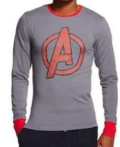 Marvel Avengers Cool Johns Long Underwear S 28 30 Small NEW Lounge Sleep Shirt #Bioworld #Nightshirt