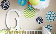 Custom Fabric Wall Decals www.thebump.com #DIY