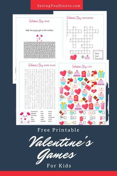Print out these Free Printable Valentine's Games For Kids. Use them at a class party or something to do at home with your kids. It's a great free printable for teachers to use in your classroom! Ramen Recipes, Carrot Recipes, Steak Recipes, Turkey Recipes, Potato Recipes, Crockpot Recipes, Vegetarian Recipes, Chicken Recipes, Valentines Games