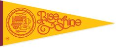 'Rise and Shine' Pennant from 'The Peoples Pennant'. Check out this fun project.