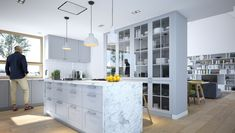 Familijny 1 - DOMY Z WIZJĄ 20 M2, Open Plan Kitchen Living Room, Kitchen Island, Home Decor, Ideas, House, Homemade Home Decor, Decoration Home, Home Decoration