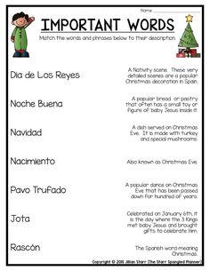 Holidays Around the World- Spain - Christmas in Spain FREEBIE