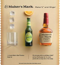 Maker's and Ginger Ale - a simple, tasty drink for the tailgate, cookout, or party!