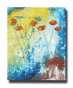 Abstract Poppies Painting