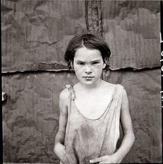 Child living in Oklahoma City shacktown. August 1936. Farm Security Administration photograph by Dorothea Lange.