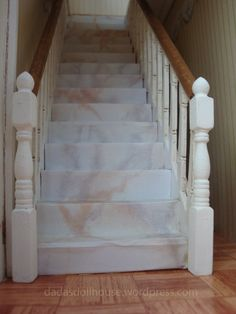 how to: faux marble staircase