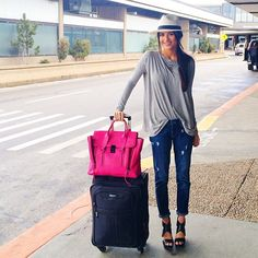 Perfect traveling gear (minus the sky high DVF wedges)