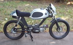 Another cute moped in a cafe-racer style.