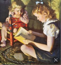 Collector Jim Pinkoski has just set up a new website to feature the illustration art of Harry Anderson Harry Anderson (n. People Reading, Girl Reading Book, Reading Art, Woman Reading, Kids Reading, Reading Time, Reading Books, I Love Books, Good Books