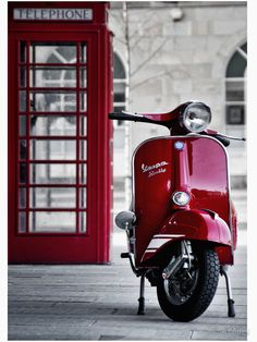 Red Vespa Scooter by redstar5