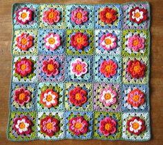 36 Ideas Crochet Pillow Granny Square Attic 24 For 2019 Crochet Flower Squares, Crochet Doily Rug, Crochet Cushions, Granny Square Crochet Pattern, Crochet Pillow, Crochet Blanket Patterns, Crochet Gifts, Crochet Flowers, Crochet Afghans