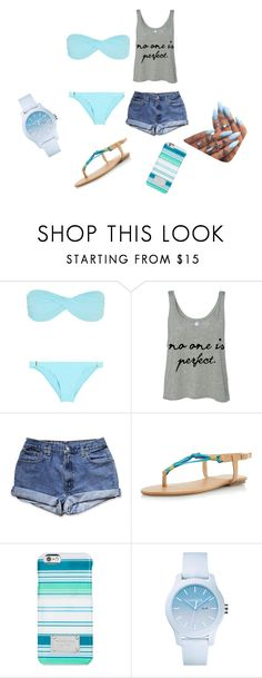 """""""Beach outfit"""" by shantaiwalters on Polyvore featuring Melissa Odabash, Dorothy Perkins, Michael Kors and Lacoste"""