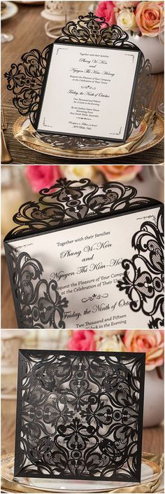 I like the laser cut lace pocket that the card is in