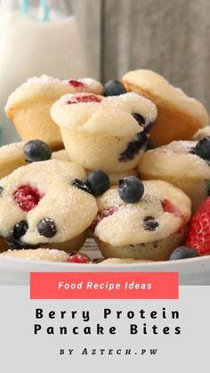 Berry Protein Pancake Bites | Food Recipe Ideas