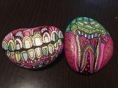 Stone paint teeth