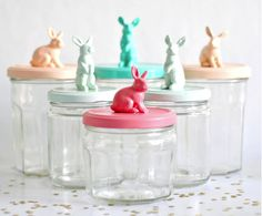 Easter DIY ideas - Painted gift jars - perfect for easter candy