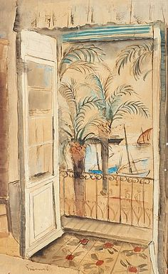 ISAAC GRÜNEWALD View from the Balcony, Mediterranean