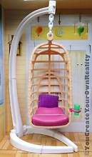 OOAK Monster High Hannah Montana Malibu Beach House Barbie Dollhouse Porch Swing