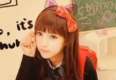 Ulzzang cat girl / #ulzzang #neko #cat #asian #cute