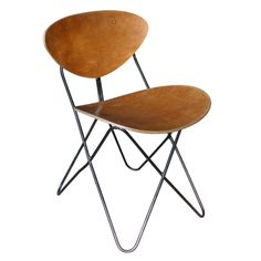 Raoul Guys; Metal and Bent Plywood Chair for Airborne, c1955.
