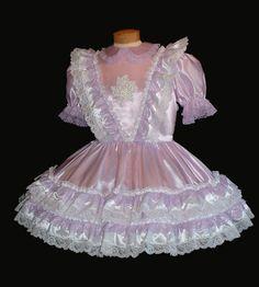 Niki Pink Satin Party Dress