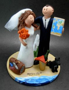 Checkout this amazing product Travellers Wedding Cake Toppers  at Shopintoit