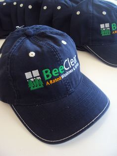 Promotional Items- Baseball Caps embroidered for Bee Clear Energy Solutions.