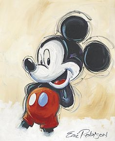 Walt Disney reminded one and all that ''it all started with a mouse'' and this Classic Mickey Mouse fine art print by Eric Robison will do no less. Minnie Mouse Drawing, Mickey Mouse Cartoon, Mickey Mouse And Friends, Mickey Minnie Mouse, Mickey And Minnie Tattoos, Mickey Love, Mickey Mouse Wallpaper Iphone, Disney Wallpaper, Mickey Mouse Pictures