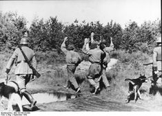 An anti partisan operation being conducted by German troops in Russia earlier in 1942.