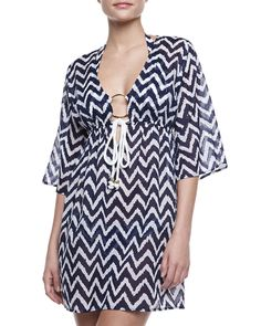 Milly - Ava Zigzag Tunic Coverup