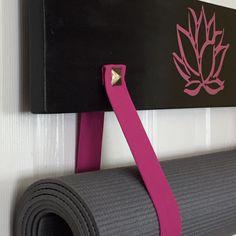 My new creation for you!  The #yogamatholder #yogastrapholder #yogarack #pinkyoga #yogagirl all by #yogawares #handmade for you
