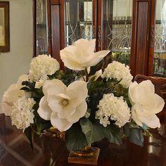 Found it at Wayfair - Magnolia and Hydrangea Large Silk Flower Arrangement