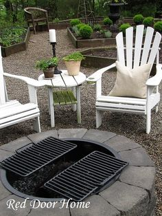 Build a fire pit with a grill