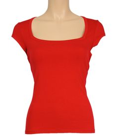Love this Red Square Neck Tee by Louie et Lucie on #zulily! #zulilyfinds